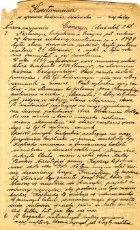 Archiwum miasteczek i wsi pow. sanockiego, leskiego, ustrzyckiego. Kwestionariusze z badania środowiska : Czaszyn