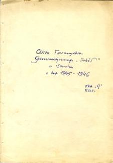 """Akta Towarzystwa Gimnastycznego """"Sokół"""" w Sanoku z lat 1945-1946"""