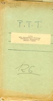 P.T.T. Akta organizacyjne Towarzystwa Tatrzańskiego Oddział w Sanoku
