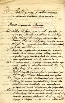 Archiwum miasteczek i wsi pow. sanockiego, leskiego, ustrzyckiego. Kwestionariusze z badania środowiska : Moczary