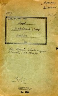 """Akta Muzeum """"Łemkiwszczyna"""" w Sanoku z lat 1931-1939"""