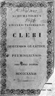 Schematismus Universi Venerabilis Cleri Dioeceseos Gr. Cathol. Premisliensis 1833