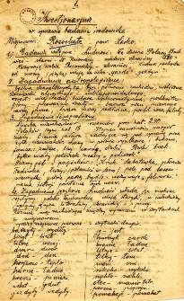 Archiwum miasteczek i wsi pow. sanockiego, leskiego, ustrzyckiego. Kwestionariusze z badania środowiska : Rosochate
