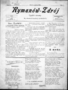Rymanów Zdrój : tygodnik sezonowy, 1899, nr 2