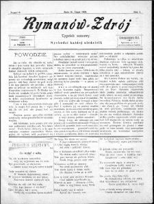 Rymanów Zdrój : tygodnik sezonowy, 1899, nr 6