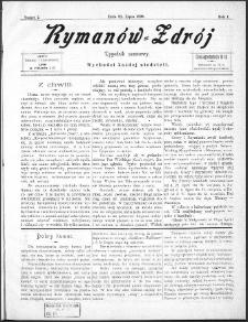 Rymanów Zdrój : tygodnik sezonowy, 1899, nr 7