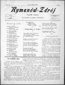 Rymanów Zdrój : tygodnik sezonowy, 1899, nr 8