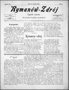 Rymanów Zdrój : tygodnik sezonowy, 1899, nr 10