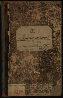 Księga uchwał Rady miejskiej od sierpnia 1883 do grudnia 1887. T. IX