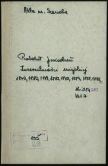 Protokół posiedzeń Zwierzchności miejskiej (1879-1886)