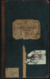 Księga uchwał Rady miejskiej od 1887 do stycznia 1892. T. X