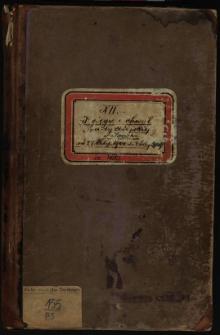 Księga uchwał Rady miejskiej w Sanoku od 22 Listop. 1900 do 7 Lutego 1907. T. XII
