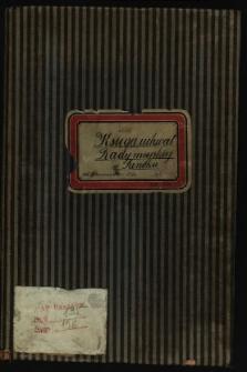 Księga uchwał Rady miejskiej w Sanoku od 18 kwietnia 1907-1914. T. XIII