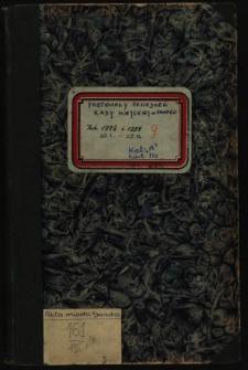 Protokoły posiedzeń Rady Miejskiej w Sanoku 20.1.1898-20.12.1899