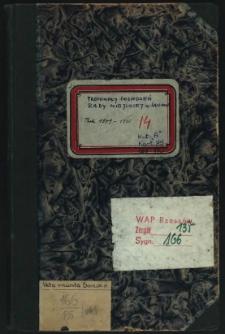 Protokoły posiedzeń Rady Miejskiej m. Sanoka. Rok 1909-1910