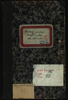 Protokoły posiedzeń Rady Miejskiej. Rok 1911 i 1912