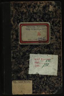 Protokoły z posiedzeń Rady Miejskiej m. Sanoka 1913-1914