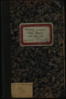 Protokoły posiedzeń Rady Miejskiej. R 1917 (22.2) i 1918 (12.12)