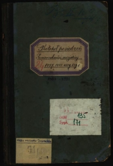 Protokoł posiedzeń Zwierzchności miejskiej 1887, 1888, 1889, 1891