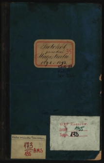 Protokół posiedzeń Magistratu 1891 i 1892