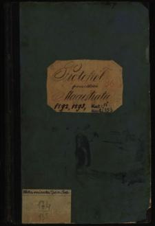 Protokół posiedzeń Magistratu 1892, 1893