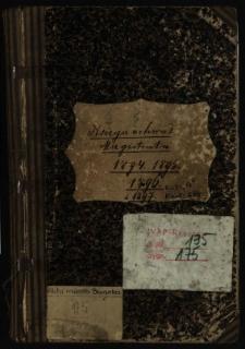 Księga uchwał Magistratu 1894, 1895, 1896 i 1897