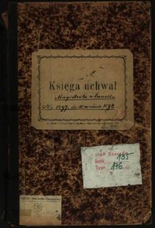 Księga uchwał Magistratu w Sanoku od 19.7.1897 do 11 września 1898