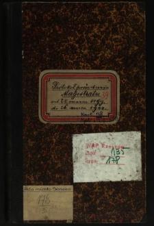 Protokoł posiedzenia Magistratu od 28 marca 1899 do 26 marca 1900