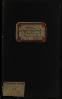 Protokół posiedzeń Magistratu od 18. kwietnia 1905 do 13 grudnia 1905