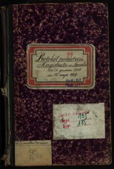 Protokół posiedzeń Magistratu w Sanoku od 20.grudnia 1905 do 15. maja 1907