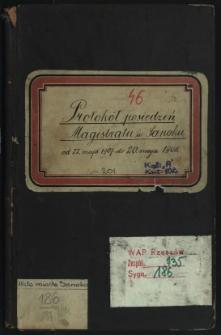 Protokół posiedzeń Magistratu w Sanoku od 22. maja 1907 do 20. maja 1908