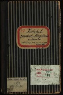 Protokół posiedzeń Magistratu w Sanoku od 27. maja 1908 do 2. czerwca 1909