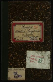 Protokół posiedzeń Magistratu w Sanoku od 2 czerwca 1909 do 9 marca 1910