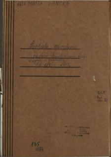 Kontrola zewnętrzna, nadzór. Posiedzenia Rady Miejskiej - protokoły 1891-1913