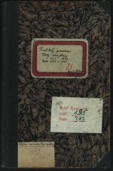 Protokoły posiedzeń Rady Miejskiej. Rok 30.1.1923-18.12.1924
