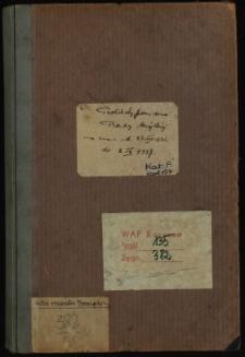 Protokoły posiedzeń Rady Miejskiej za czas od 27 VIII 1936 do 2 IX 1937