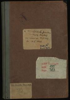 Protokoły posiedzeń Rady Miejskiej za czas od 23 IX 1937 do 22 VI 1939