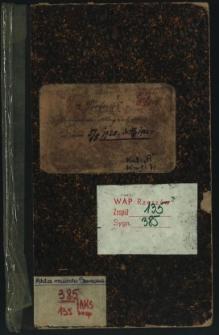Protokół posiedzeń Magistratu od dnia 5/5 1920 r. do 28.6 1922 r.