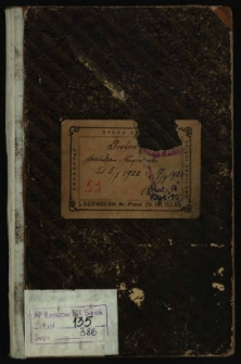 Protokół posiedzeń Magistratu 25/7 1922 r.-17/9 1924