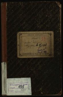 Protokół z posiedzeń Magistratu od 24/9 1924 r. do 5/5 1926
