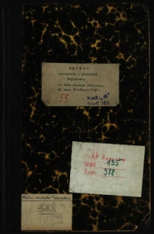 Księga protokołów z posiedzeń Magistratu od dnia 12 maja 1926 roku do dnia 2 listopada 1927