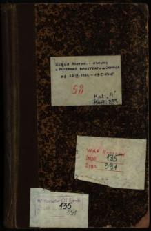 Księga protok. i uchwał z posiedzeń Magistratu m. Sanoka od 27.IX.1932-17.I.1935
