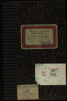 Księga uchwał magistratu za czas od 10.VI.1936 do 3.VI 1937