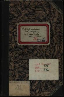 Protokoły posiedzeń Rady Miejskiej. Rok 10.2.1921-22.12.1922