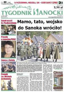Tygodnik Sanocki, 2012, nr 40