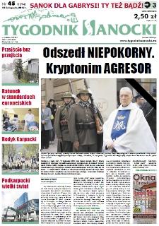 Tygodnik Sanocki, 2012, nr 45