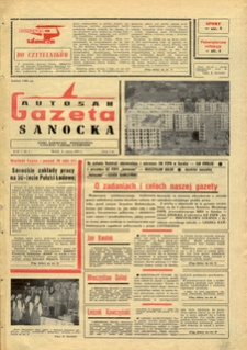 "Gazeta Sanocka ""Autosan"", 1974, nr 1-2"