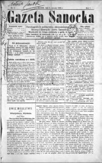 Gazeta Sanocka, 1895, nr 1
