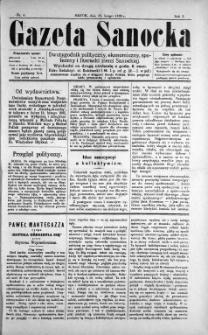 Gazeta Sanocka, 1895, nr 4