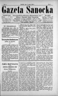 Gazeta Sanocka, 1895, nr 5